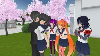 yandere simulator pose mode #1: Ayano e Senpai si baciano