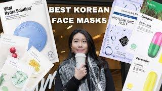 BEST KOREAN SHEET MASKS FOR SENSITIVE SKIN ! 韩国面膜最爱(eng subtitles)