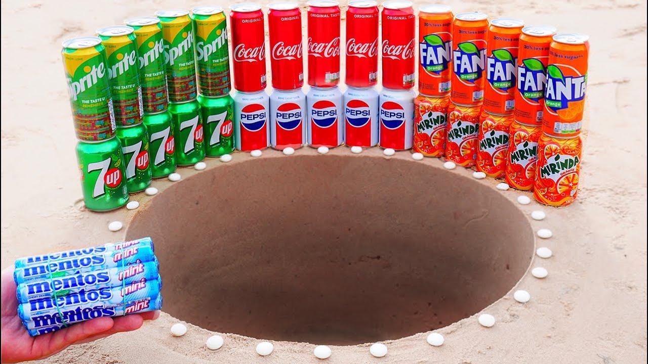 Coca Cola, Fanta, Sprite VS Pepsi, Mirinda, 7up VS Mentos Underground