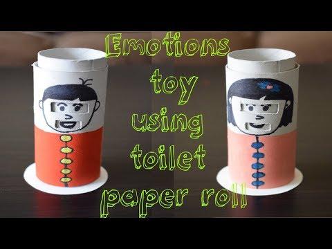 DIY: Emotions toy using toilet paper roll | Kids basic emotion toys
