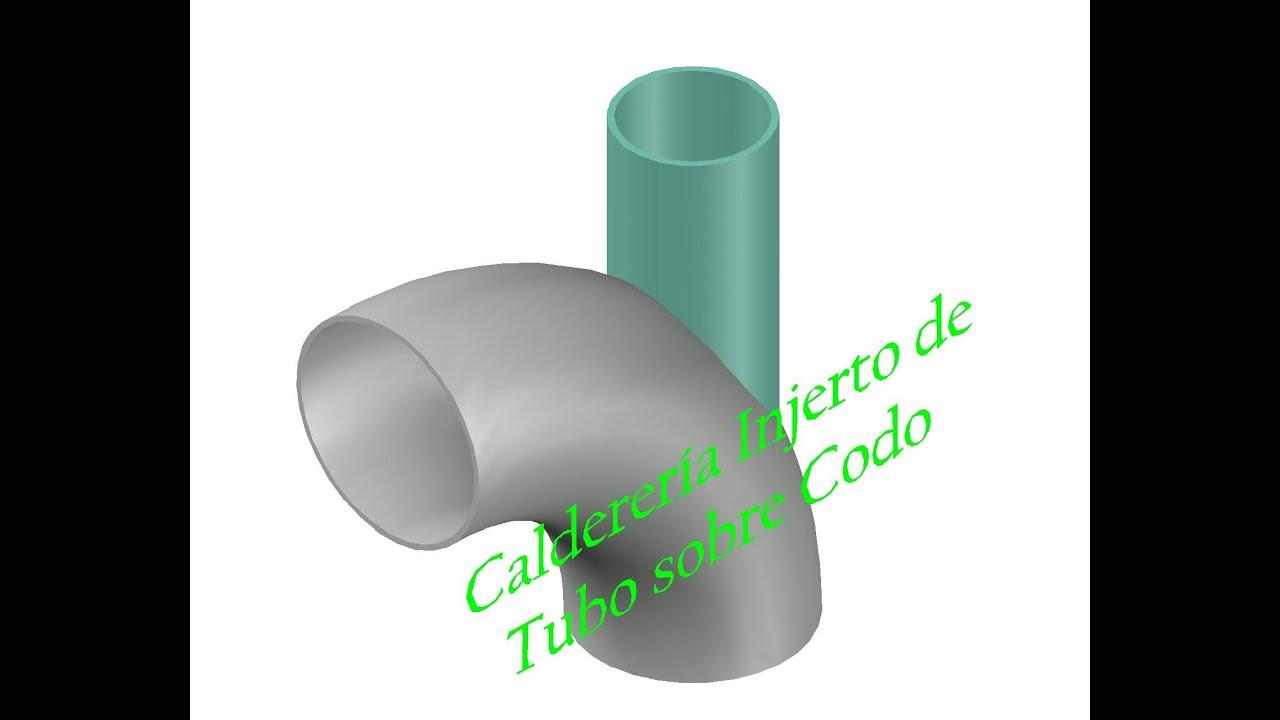 Caldereria trazado injerto de tubo sobre codo - YouTube
