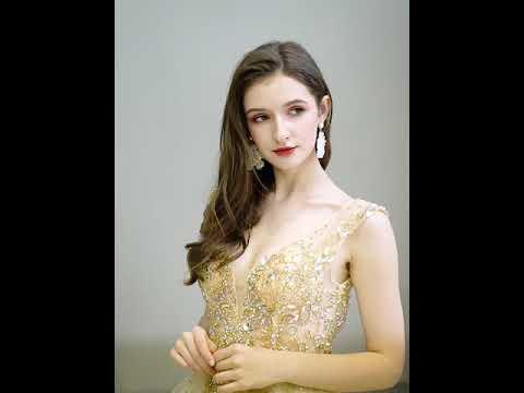 Золотое вечернее платье. Выпускное платье. Вечірня сукня. Вечернее платье ручной работы
