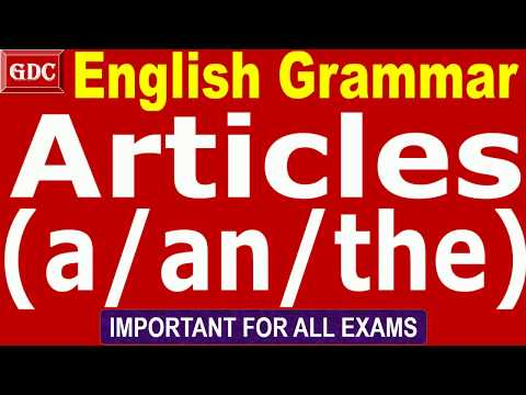 English Grammar || Articles(A/An/The)