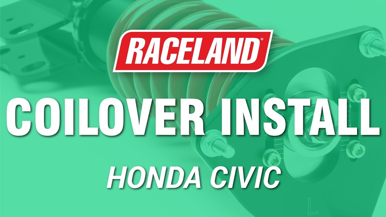 how to install raceland ep3 civic coilovers youtube. Black Bedroom Furniture Sets. Home Design Ideas