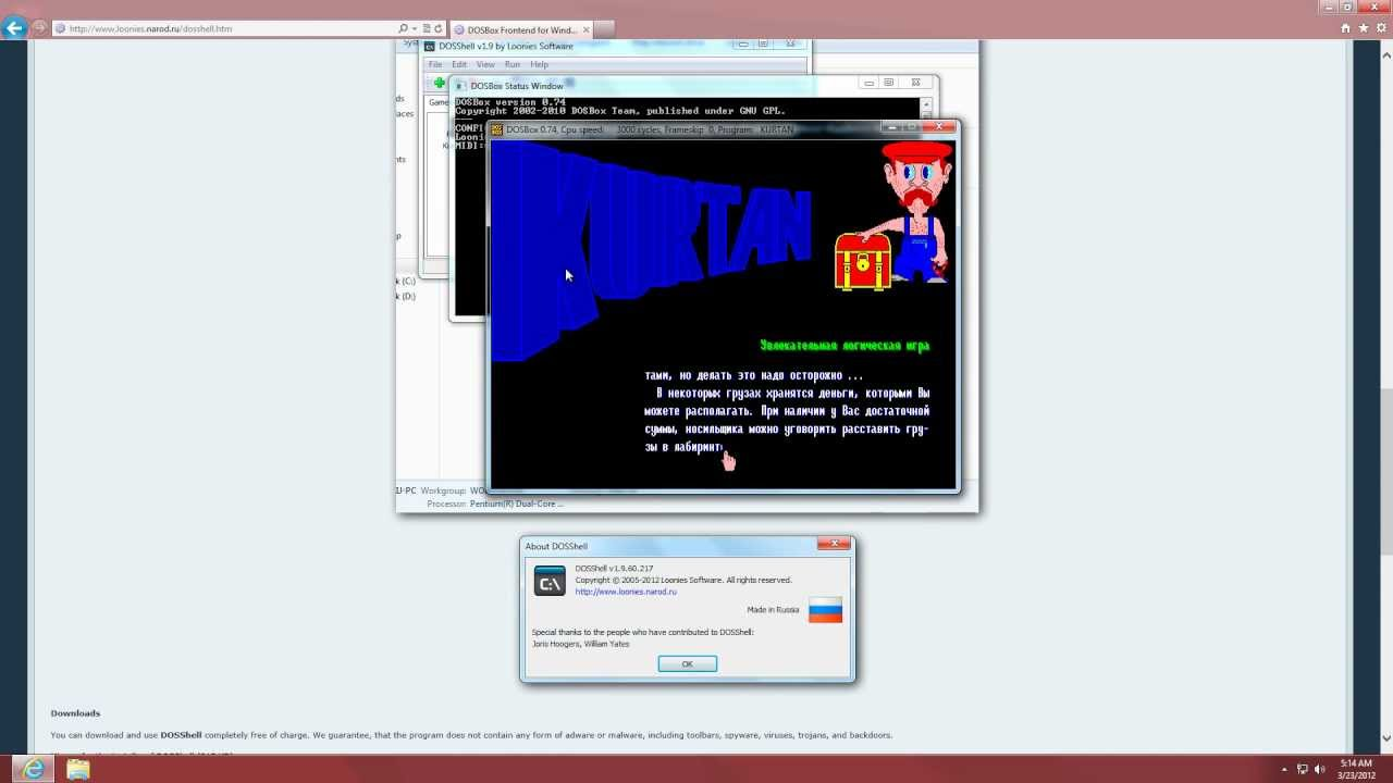 DOSBox Frontend for Windows, DOSShell — Loonies Software