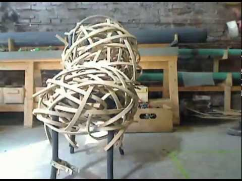 Matthias Pliessnig wraps a Thonet chair