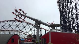 RED ARROWS SKYFORCE TESTING @ BLACKPOOL PLEASURE BEACH
