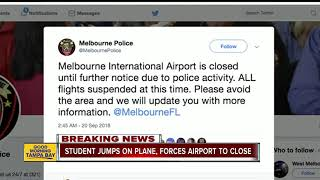 Orlando Melbourne International Airport on lockdown after student pilot tries to access jet