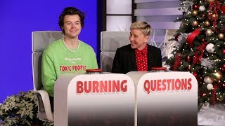Download Harry Styles Answers Ellen's 'Burning Questions' Mp3 and Videos