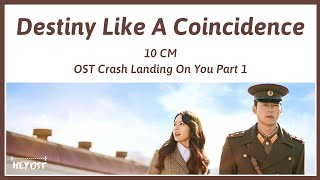 Gambar cover 10cm (십센치) - Destiny Like A Coincidence (우연인 듯 운명) OST Crash Landing On You Part 1 | Lyrics
