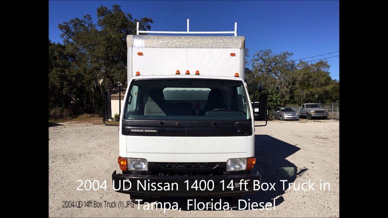 2004 ud nissan diesel 1400 14 ft box truck for sale tampa florida youtube. Black Bedroom Furniture Sets. Home Design Ideas