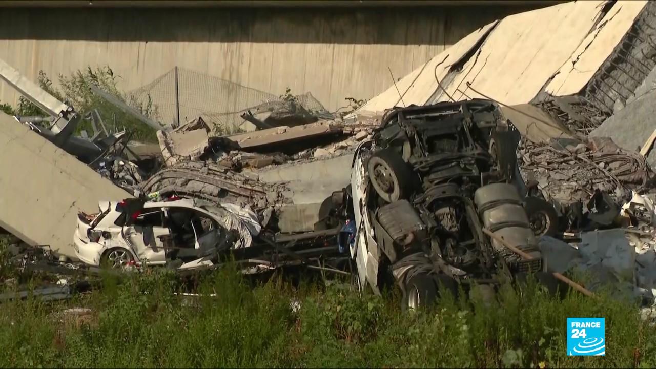 فرانس 24:Survivors recount Italy bridge collapse