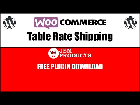 Woocommerce Table Rate Shipping Free Plugin