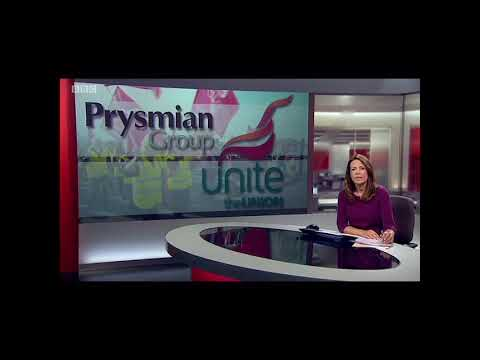 Prysmian cables strike action - BBC South early evening news - 10.10.18