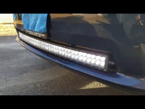 Dodge Ram Sport 42 Inch Led Light Bar Install Youtube