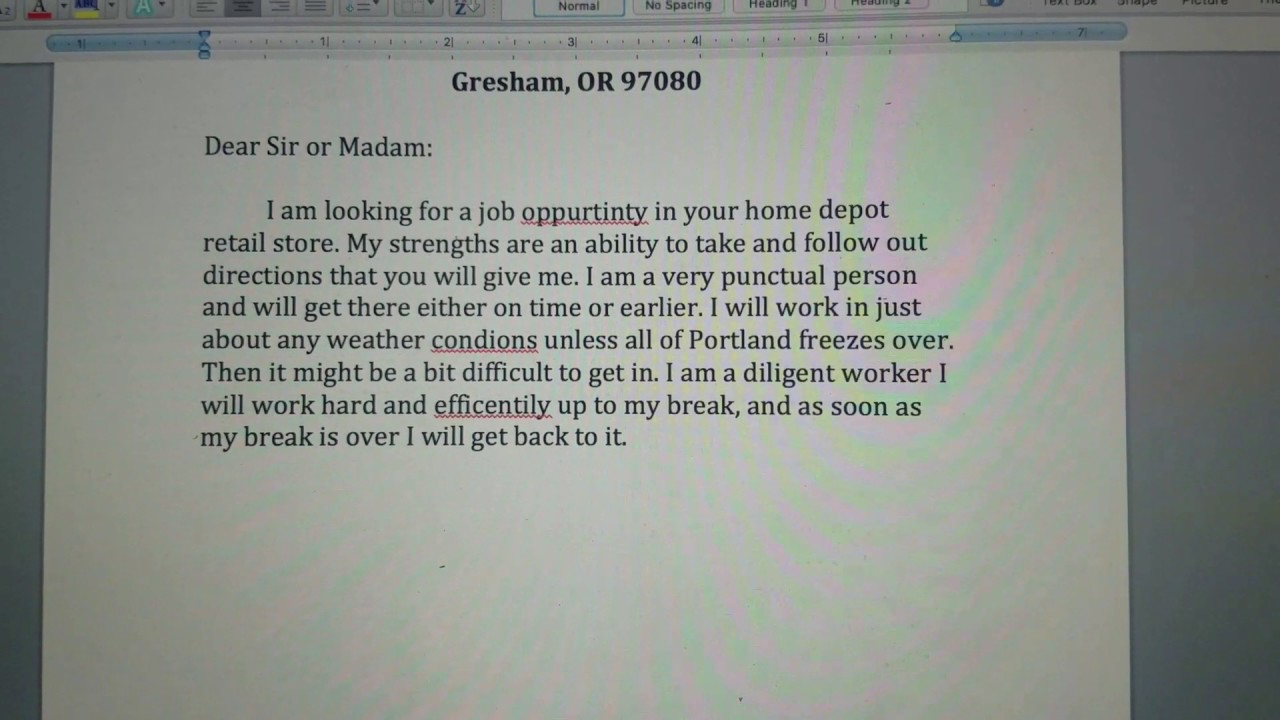 best cover letter ever