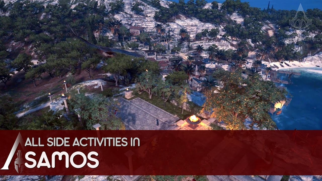 Assassin S Creed Odyssey All Side Activities In Samos Southern Sporades Youtube