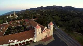 """Drone of The Santa Barbara Mission """"Queen of The Missions"""""""