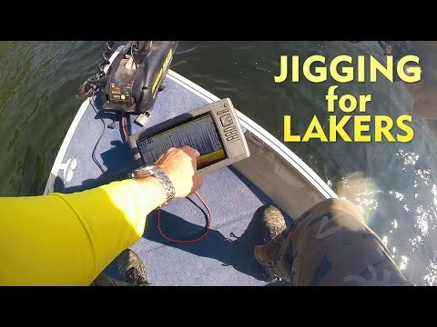 How To Jig For Lake Trout With Your Sonar Fish Finder And We Find A TON Of Surprise Fish!