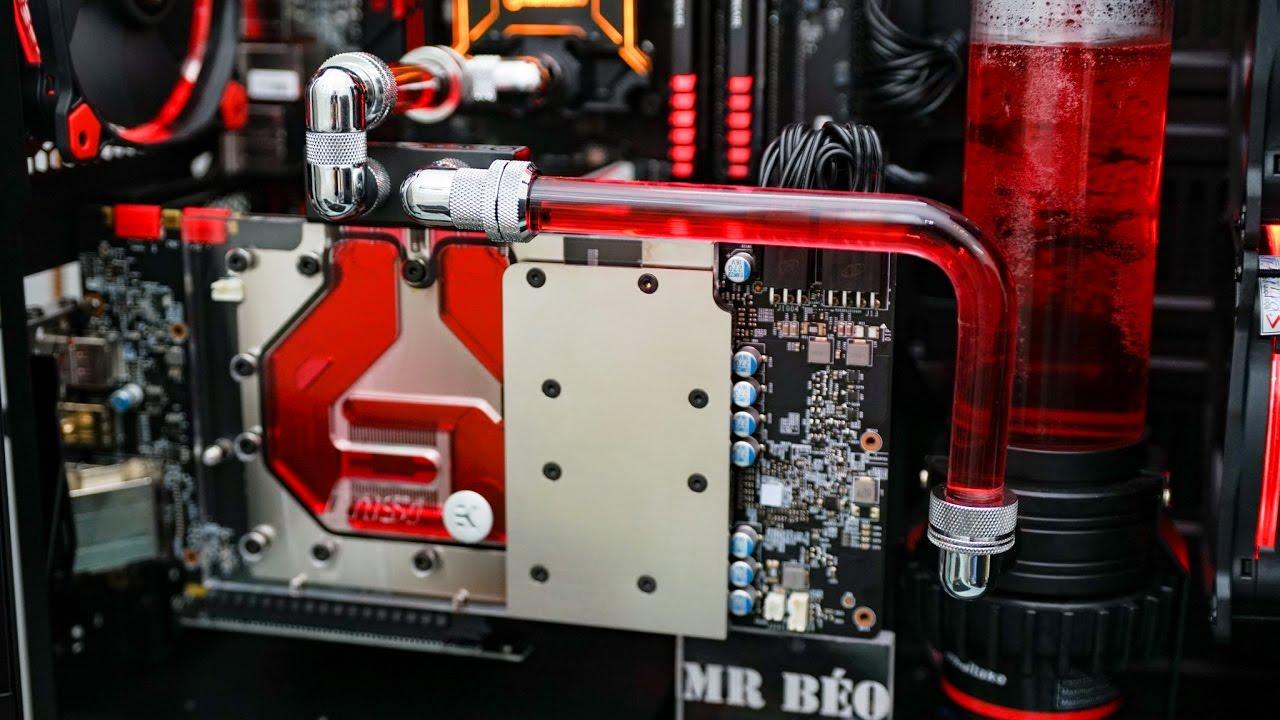 Blood Red Custom Water Cooling - MSI/Thermaltake/EK