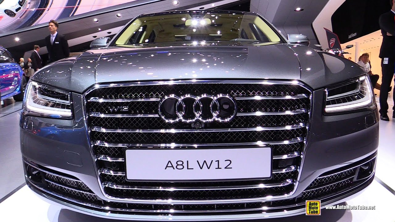 2016 audi a8 w12 exterior and interior walkaround 2015 frankfurt motor show youtube. Black Bedroom Furniture Sets. Home Design Ideas