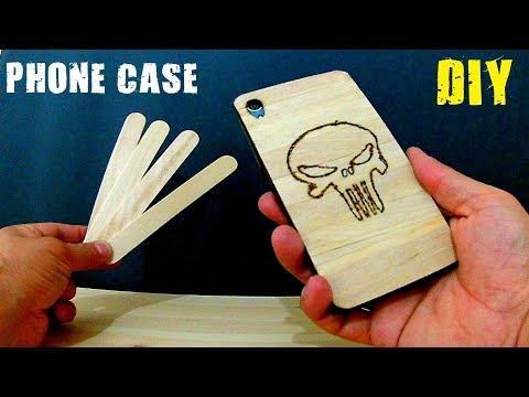 Dondurma Çubuğundan Telefon Kılıfı Nasıl Yapılır - DIY Phone Case - Popsicle Stick Phone Case