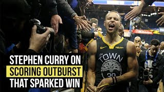 Stephen Curry on third quarter outburst that sparked comeback