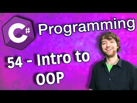 C# Programming Tutorial 54 - Intro to Object Oriented Programming (OOP) thumbnail