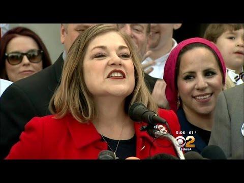 Democratic Congresswoman Loretta Sanchez Announces Her Bid For Boxer's Senate Seat