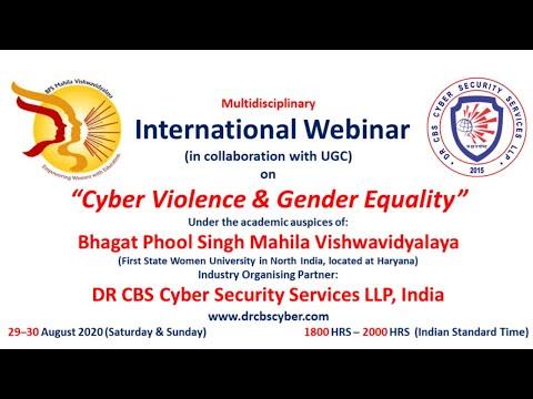 """International Webinar on """"Cyber Violence & Gender Equality"""