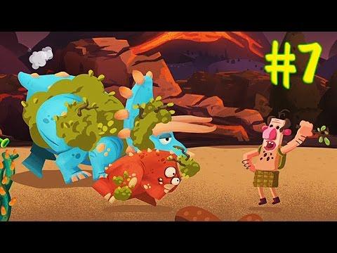 ДИНОЗАВРЫ ПРОТИВ ЛЮДЕЙ [7] Игровой мультик про динозавров Мультик игра Dino Bash