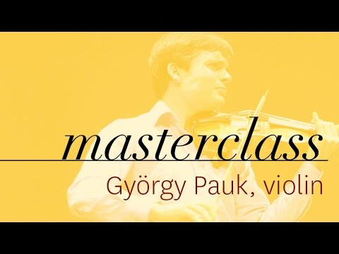György Pauk - Violin Masterclass - Francisco Garcia Fullana