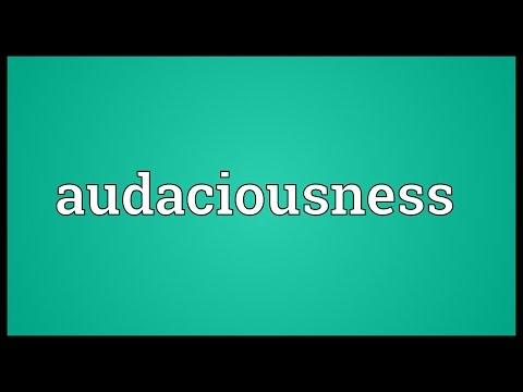 Header of audaciousness
