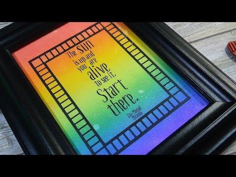 Rainbow Inspirational DIY Crafty Art | Distress Oxide Inks
