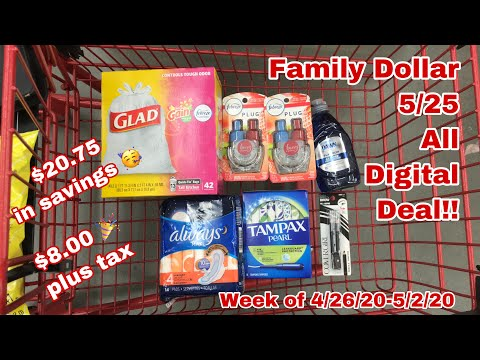 Family Dollar 5/25 Deal | $20.75 In Savings 🎉 All Digital ❤️