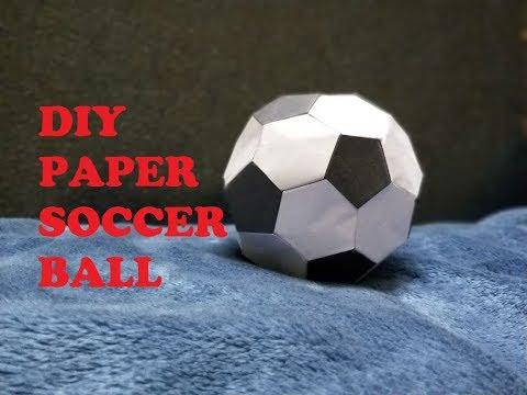 How to make a paper soccer ball || DIY || Hobby Art Work