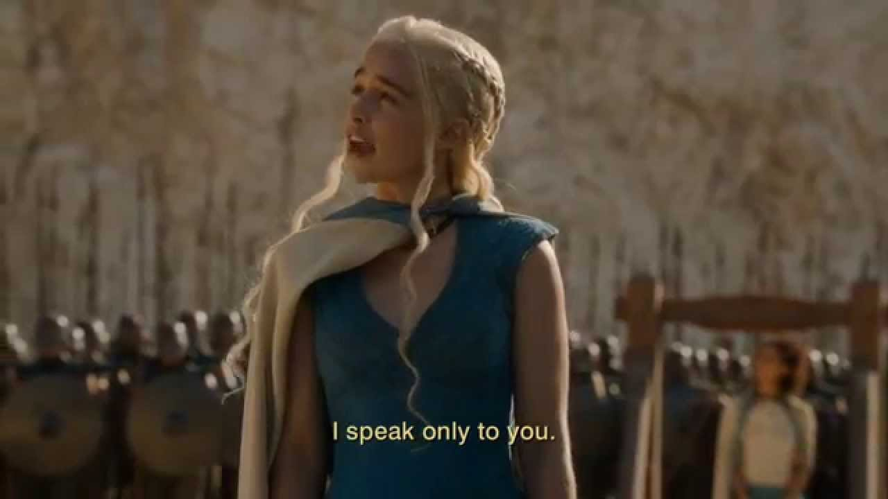 Download Game of Thrones Season 4: Episode #3 Clip - Dany's Speech (HBO)
