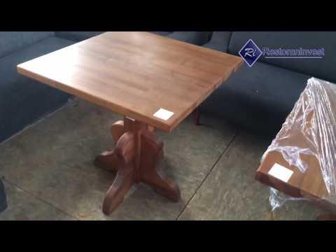 Стол б/у дерево ножка деревянная