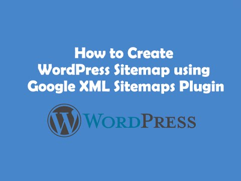 how to create a sitemap in your wordpress website youtube