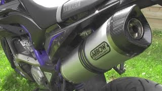Yamaha WR 125 X | Original vs. Arrow - Soundcheck