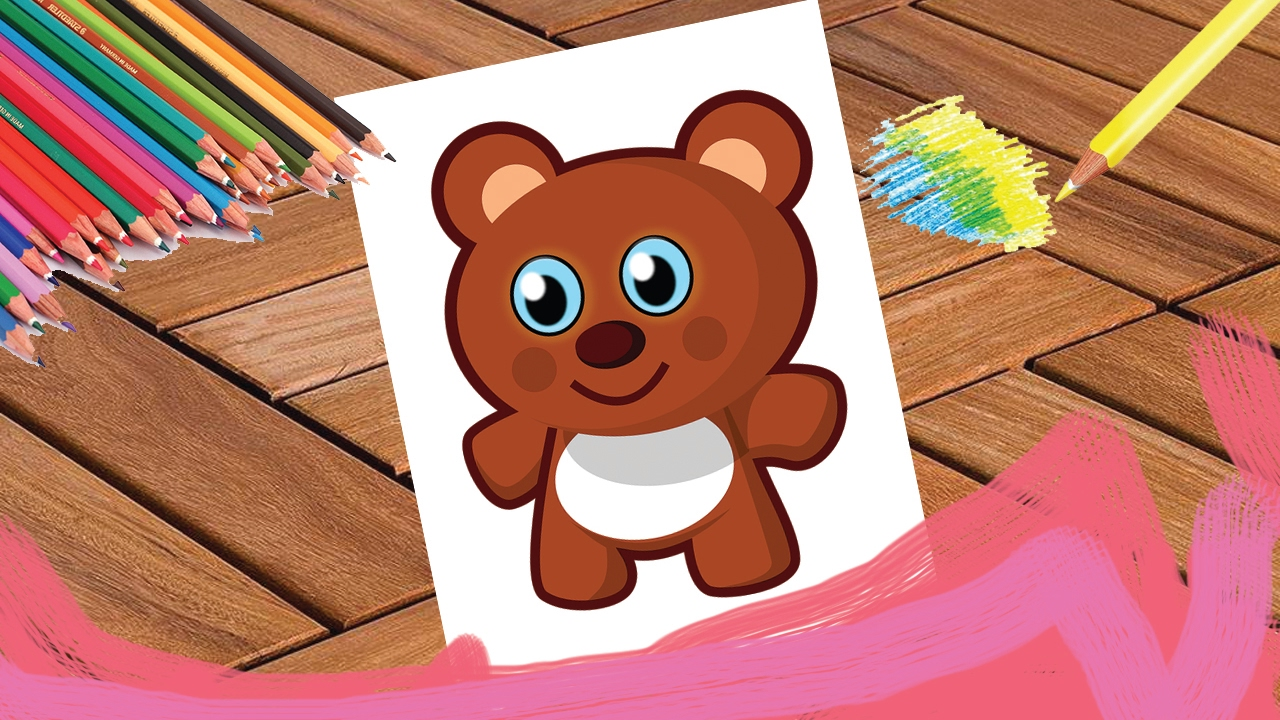 teddy bear coloring page for kids maple leaf learning playhouse