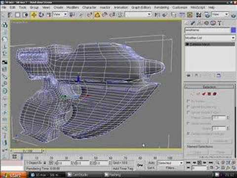 3ds max Model Wireframe Render Tutorial