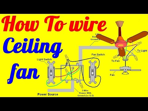 How To Wire Ceiling Fan With Light Switch - YouTube Hampton Bay Fan Wiring Diagram Model on