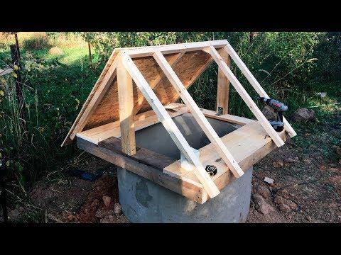 Как облагородить колодец из бетонных колец своими руками