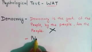 13. SSB Psychological Test- WAT