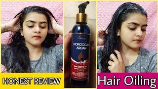 StBotanica moroccan argan hair oil | HONEST REVIEW | How to oil hair | Ria Das