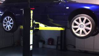 Maxjax 2-post Auto Lift In Home Garage Lifting And Lowering Audi S4