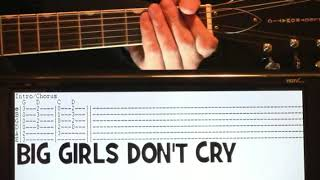 Frankie Valli Big Girls Don't Cry Guitar Chords Lesson