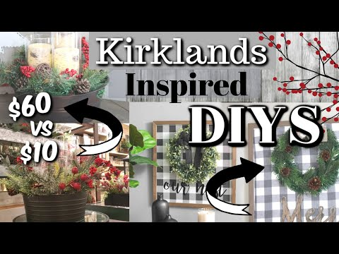 DIY Kirklands Inspired Decor | Dollar Tree Farmhouse Christmas DIYS | Krafts by Katelyn