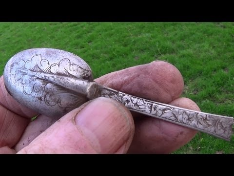 Metal Detecting UK (666) XP Deus - Silver Christening Spoon